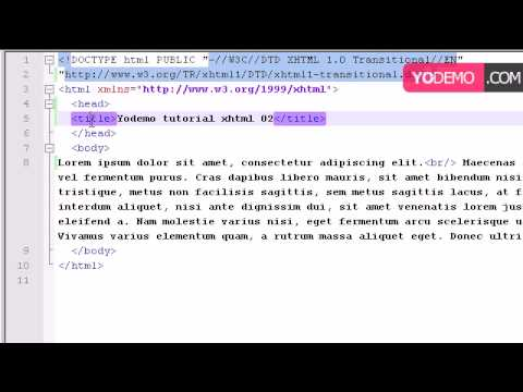 XHTML 1.0 tutorial 02 tags