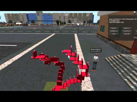 Enabling physics on objects generated using the direct manipulation kit