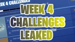 SEASON 5 WEEK 4 CHALLENGES *LEAKED* | SEASON 5 BATTLEPASS | FORTNITE BATTLE ROYALE