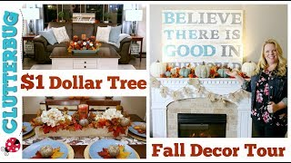 🍁 Dollar Tree Fall Decor Haul & Home Tour 🍁