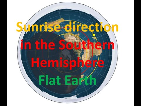 Flat Earth: Sunrise Direction in the Southern Hemisphere