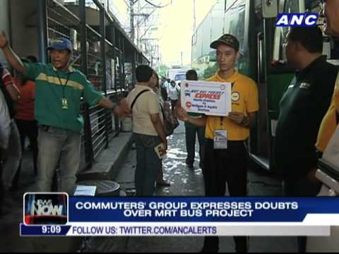 Commuters' group expresses doubts over MRT bus project