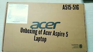 Acer Aspire 5 laptop Unboxing & Overview ( i5 8th gen 8205u)