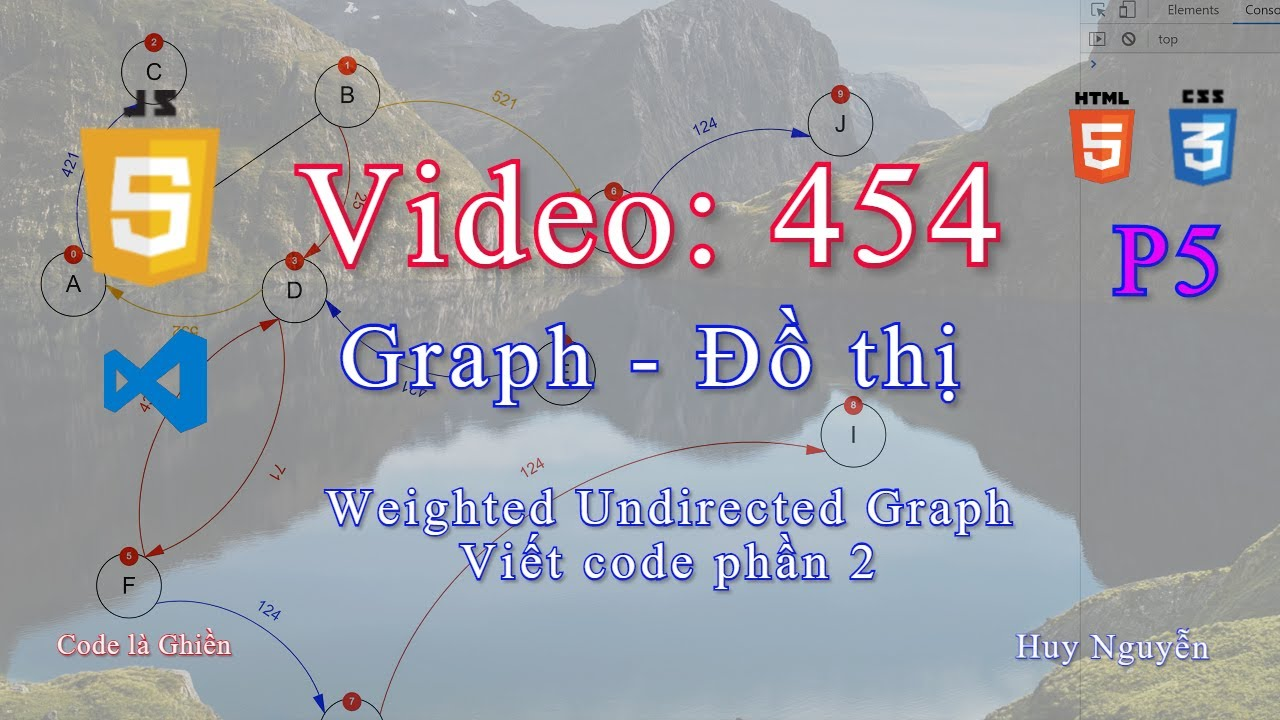 454 – Graph – Weighted Undirected Graph. Viết code phần 2