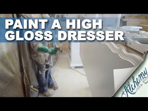 How to paint a dresser high gloss  YouTube