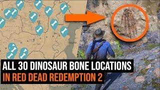 Where To Find ALL 30 Dinosaur Bones In Red Dead Redemption 2