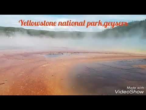 Grand Prismatic to Old Faithful all beautiful Yellowstone national park geysers