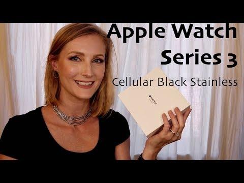 Apple Watch Series 3 Black Stainless Cellular Milanese Loop