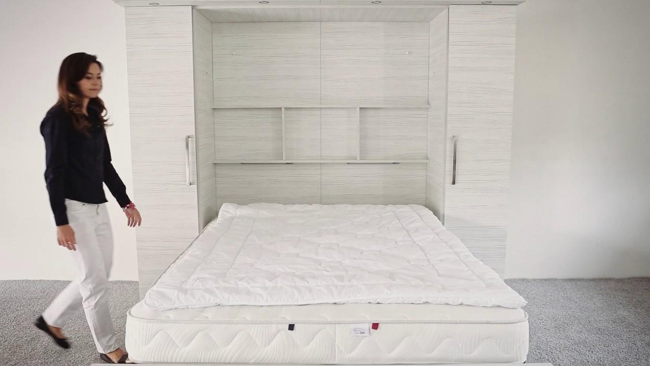schrankbett wandbett 50 youtube. Black Bedroom Furniture Sets. Home Design Ideas
