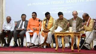 Dr. P Shyamalananda Prasad Ashtavadhanam3 at UKTA 4th World Telugu Literature Conference in London