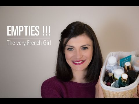 Empties !!!  || The Very French Girl