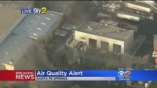 Crews Respond To Fire At Santa Fe Springs Recycling Facility