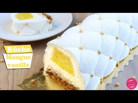 🥂-buche-mangue-vanille-~-dessert-reveillon-nouvel-an-!🥂