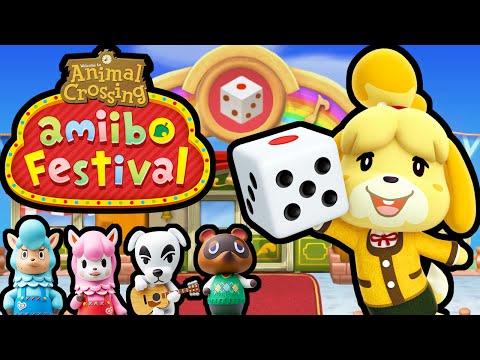Animal Crossing Amiibo Festival PART 1 Gameplay Walkthrough (Isabelle & Digby November Board) Wii U