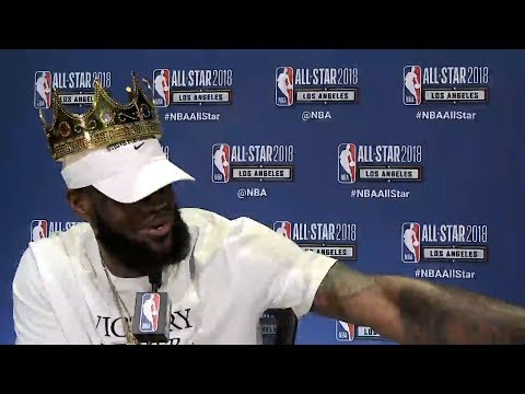 LeBron James Full Press Conference / Feb 17 / 2018 NBA All-Star Media Day