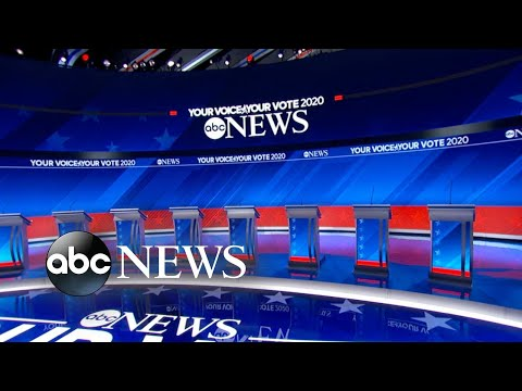 Top 10 candidates take the stage for the Democratic Debate in Houston
