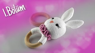 Amigurumi Tavşan Çıngırak Yapımı - Kafa Yapılışı 1-3