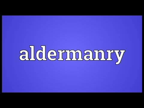 Header of aldermanry