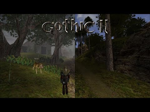 Gothic 2/Alpha - side by side comparison