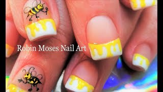 There's bee nail art & THEN there is QUEEN BEE Nail Art!!!