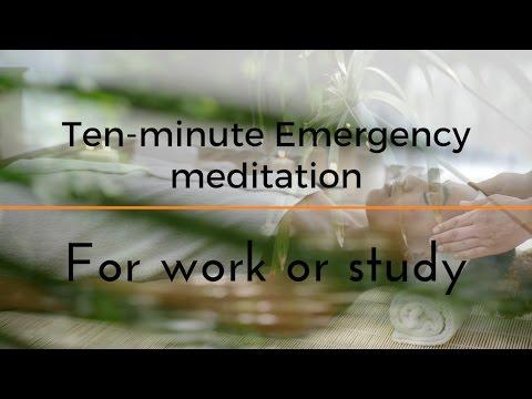 STRESS LESS 10 MIN EMERGENCY MEDITATION...