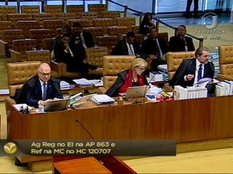Pleno - Iniciado julgamento de recurso e de habeas corpus de Paulo Maluf (2/2)