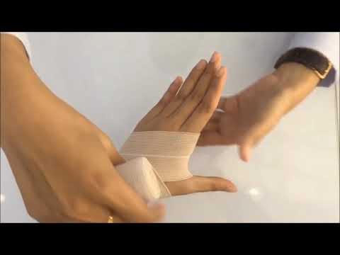 วิธีการใช้ผ้าพันยืด elastic พันข้อมือ