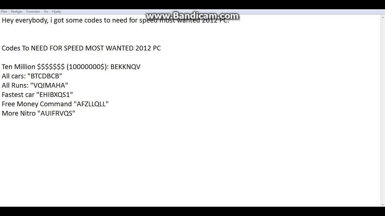 need for speed cheats pc