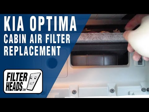 How to Replace Cabin Air Filter 2015 Kia Optima