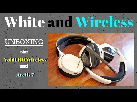 5ce80c65b0b Arctis 7 2019 & VoidPRO Wireless - White and Wireless (Unboxing) - YouTube