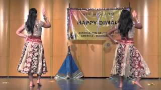 Mother Daughter Bollywood Dance, AIA Diwali 2014, Madison, WI