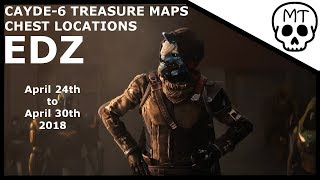 Cayde-6 Treasure Maps / Chest Locations / EDZ April 24 to April 30 2018 / Destiny 2