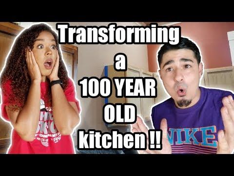 100 YEAR OLD Kitchen Transformation! | Budget Friendly Kitchen Renovation!