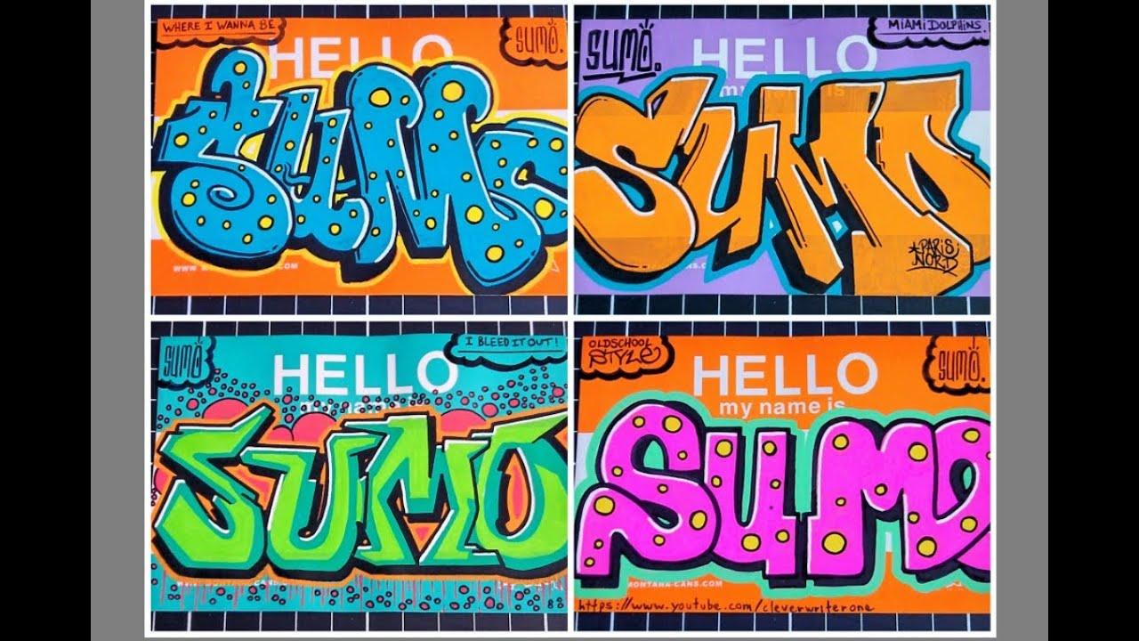 Graffiti sur toile ◊◊◊ hello my name is stickers