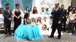 Grandpa Sings to his Quinceañera Princesas Mágicas