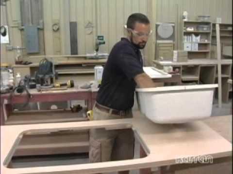 Karran Acrylic Sink Install In Laminate   Bondo Method   YouTube