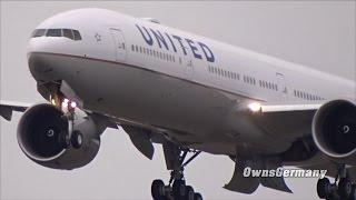 United Airlines Boeing 777-300ER N2737U First Flight w/ Missed Approach