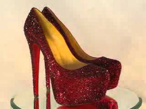 77bd1864e Christian Louboutin Daffodile Red Swarovski Crystal Pumps - YouTube