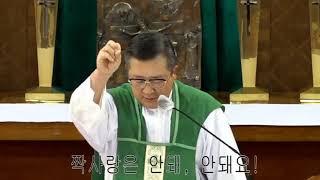 김웅열신부 강론(짝사랑은 안돼, 안돼요!)