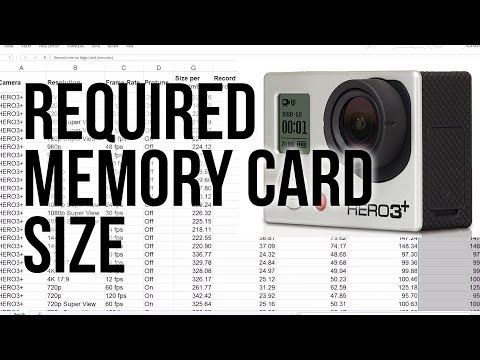 GoPro Required Memory Card Size SD/SDHC/SDXC