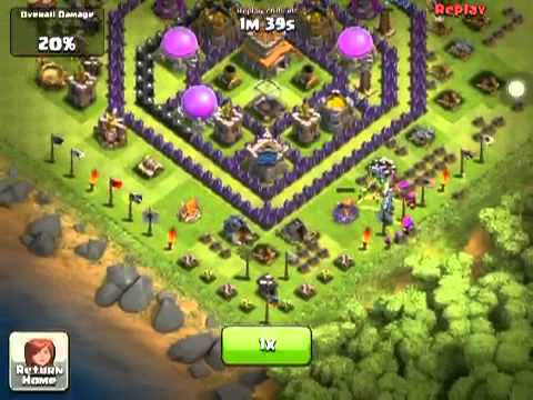 Clash of Clans - Valkyries on defense