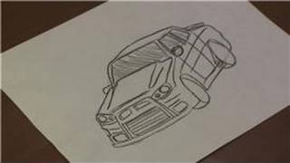 Drawing Vehicles : How to Draw a Mitsubishi Lancer