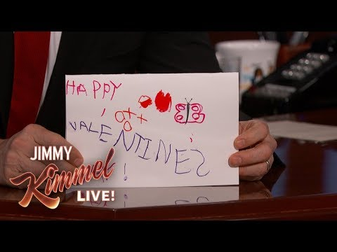 Jimmy Kimmel's Daughter Made Him an Amazing Valentine