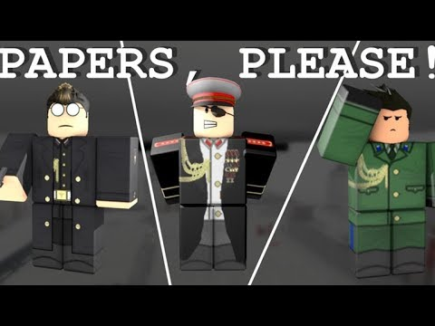 A Day At The East Grestin Border Papers Please Roblox Roblox Papers Please Border City How To Pass The Border Youtube