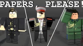 Roblox Papers, Please (Border City) | How to pass the border!