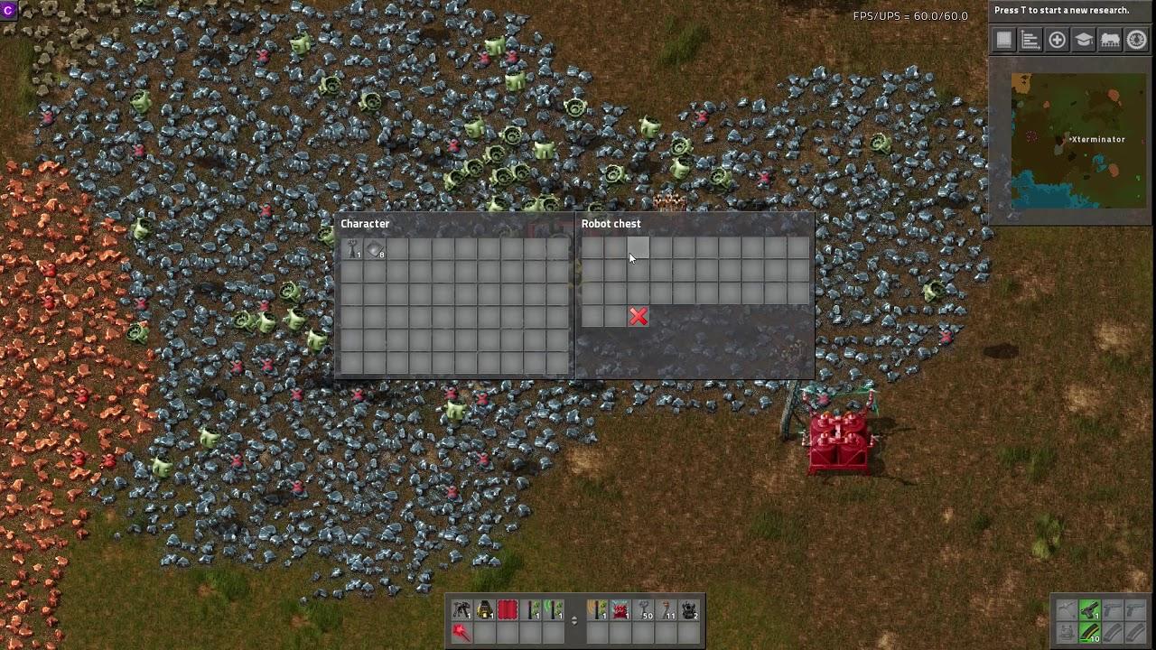 Factorio Mod Spotlight - Robot Mining Site
