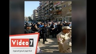 جنازة مهيبة للمقدم إبراهيم حسين السيد شهيد القوات المسلحة فى الغربية