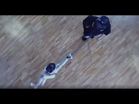 Fencing lesson with a drone