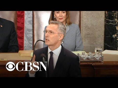 NATO secretary general addresses Congress