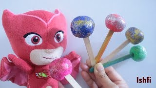 Learn colors with PJ Mask and Lollipop